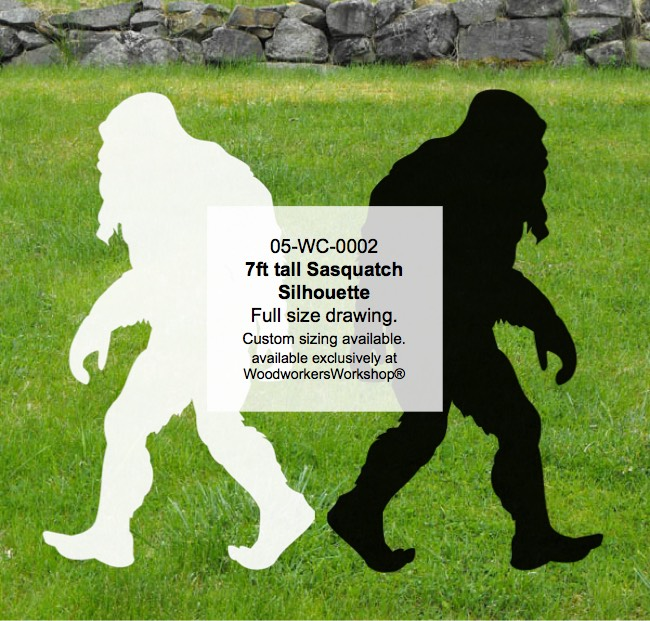 05-WC-0003 - Bigfoot Walking Yard Art Woodworking Pattern.