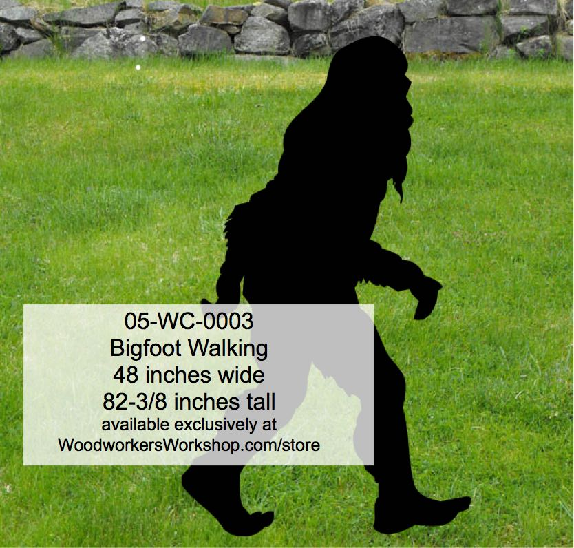 05 Wc 0003 Bigfoot Walking Yard Art Woodworking Pattern