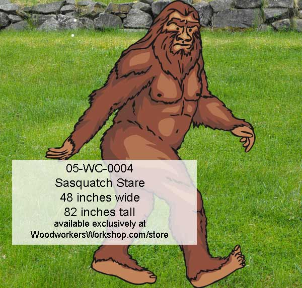 Sasquatch Stare Yard Art Woodworking Pattern.