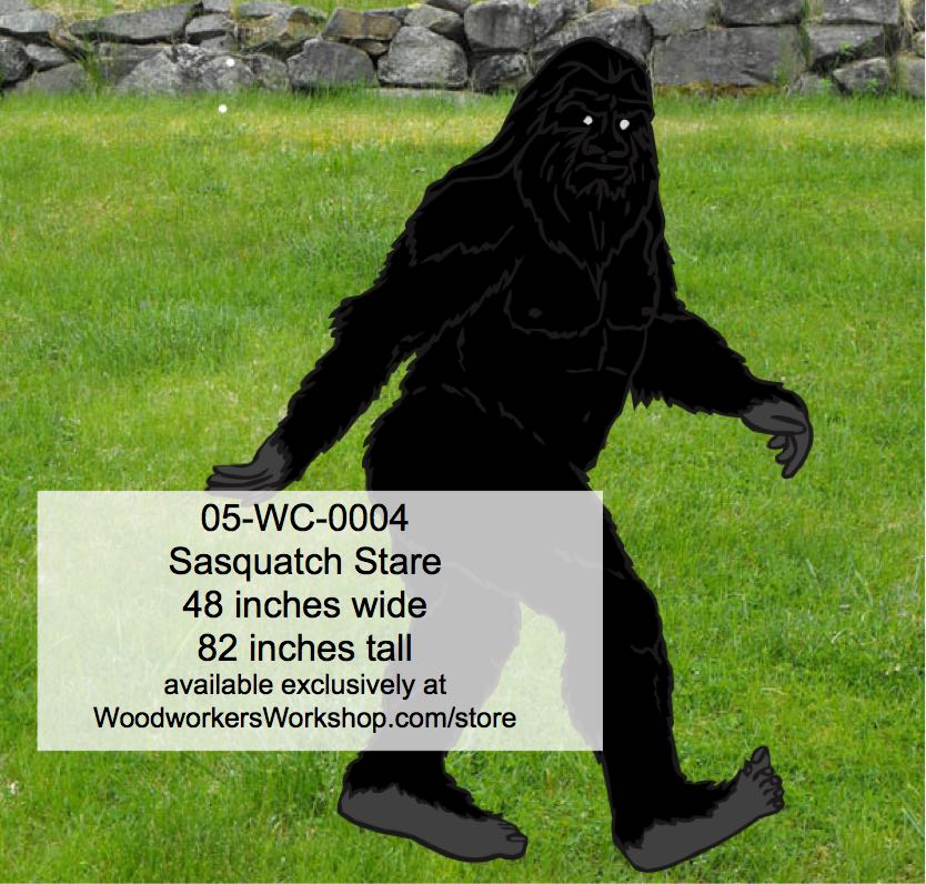 Sasquatch stare yard art woodworking pattern for Yard shadow patterns