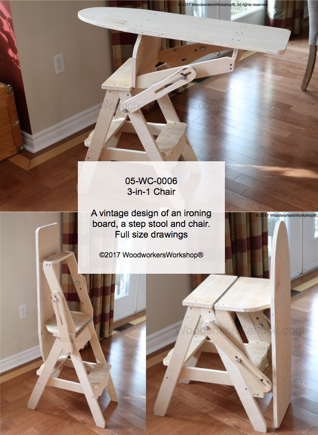3-in-1 Chair Woodworking Plan woodworking plan