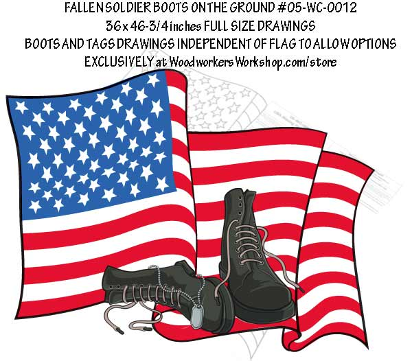 Fallen Soldier Boots on the Ground Yard Art Woodworking Plan.