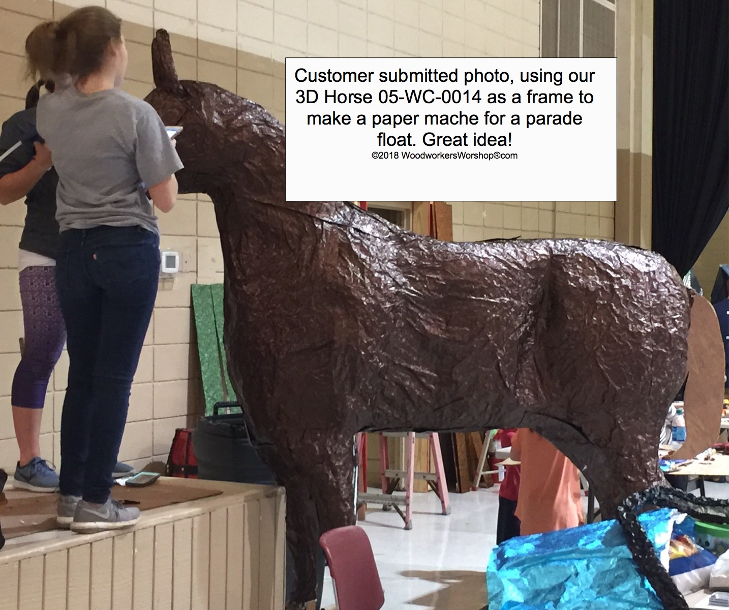3-D LIFE SIZE 7ft tall Horse Woodworking Plan.
