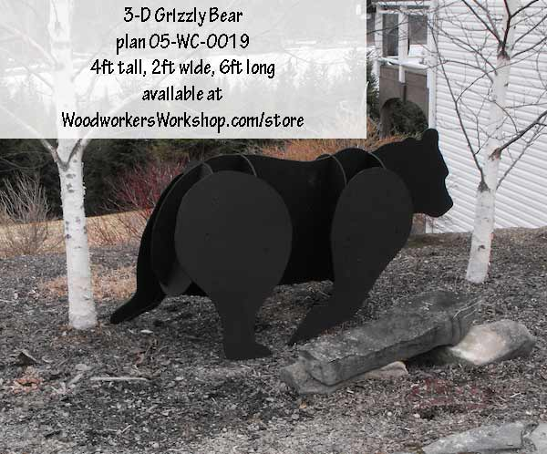 3-D LIFE SIZE New Mexico Grizzly Bear Woodworking Plan