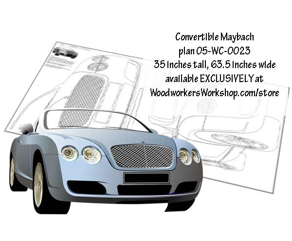 Convertible Maybach Line Art Woodworking Plan