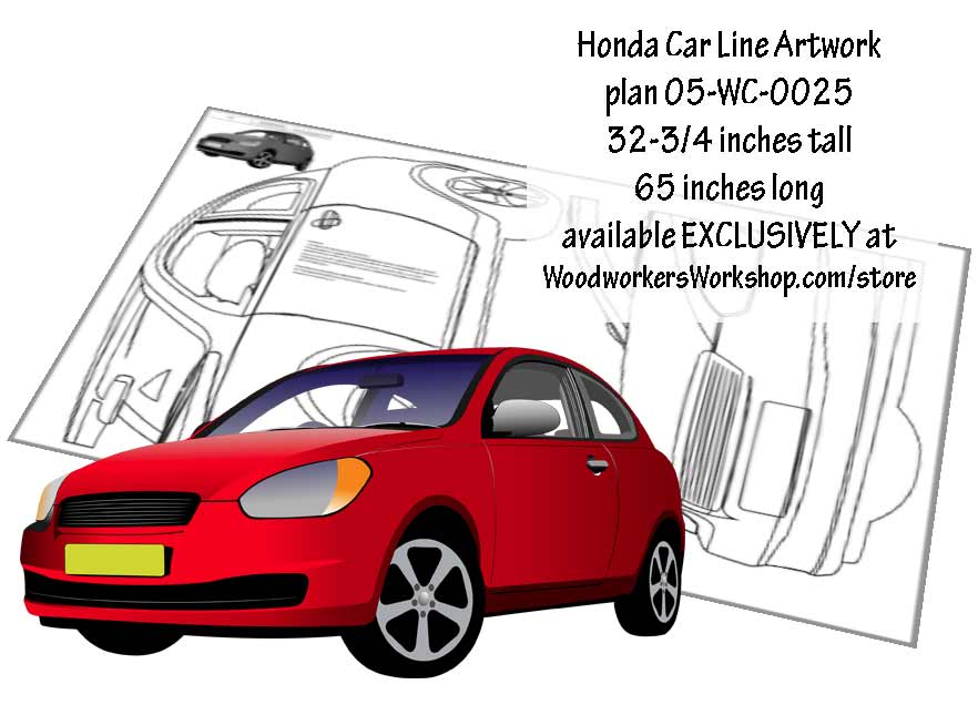 Honda Car Line Artwork Woodworking Plan