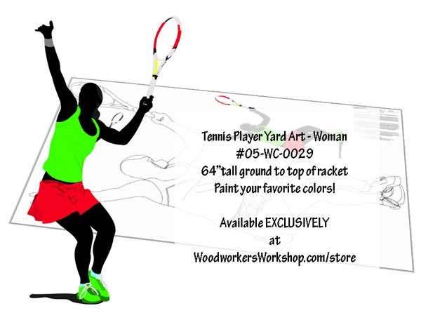 Tennis Player Woodworking Plan - Female