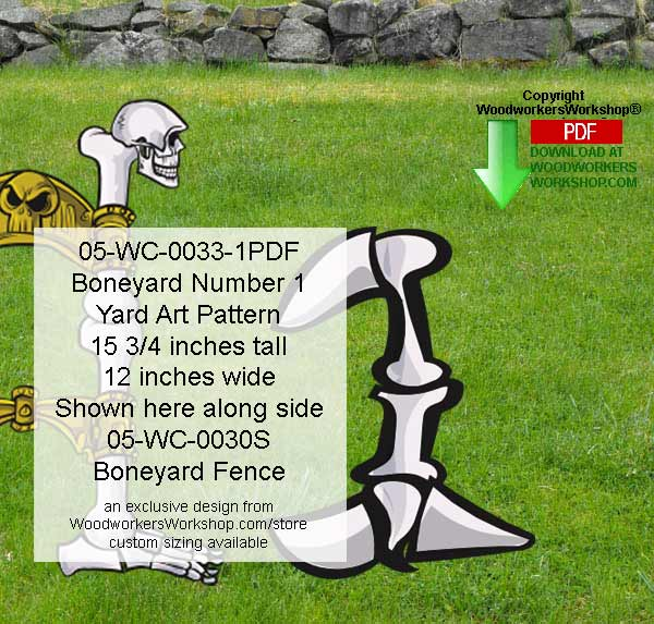 Boneyard Number 1 Yard Art Woodworking Pattern