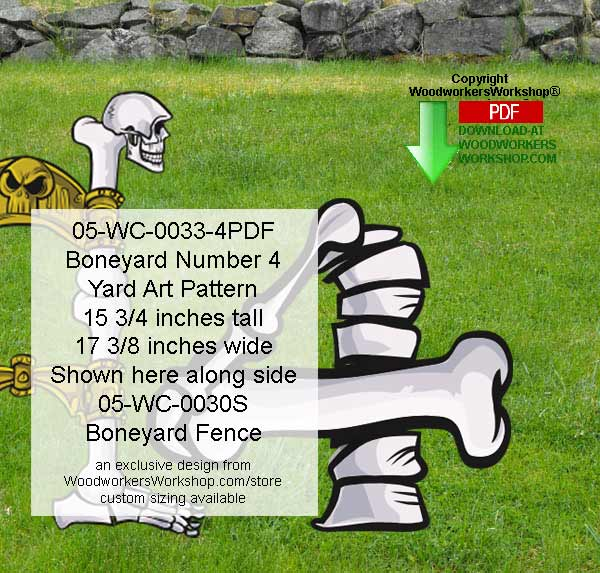 Boneyard Number 4 Yard Art Woodworking Pattern