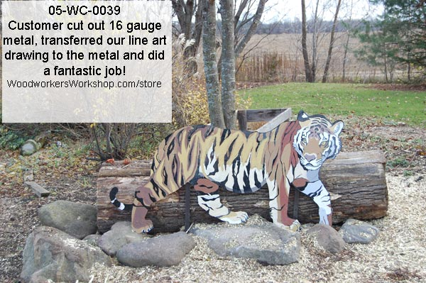 Siberian Tiger Yard Art Woodworking Pattern.