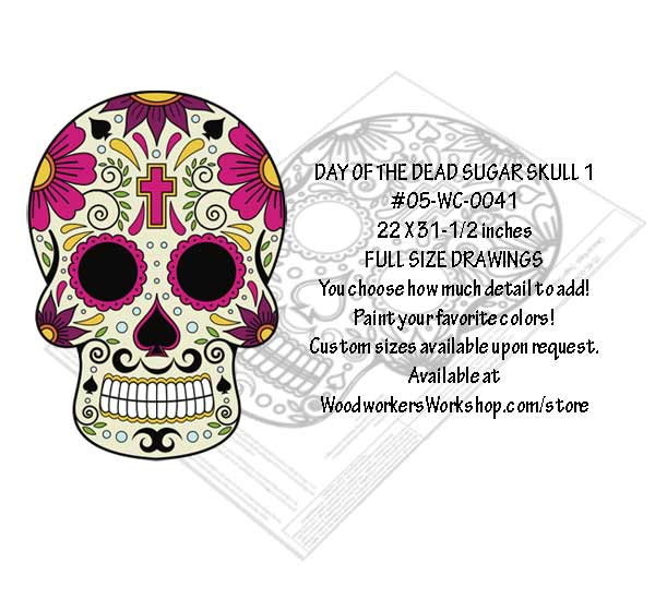 Sugar Skull No. 1 Yard Art Woodworking Pattern