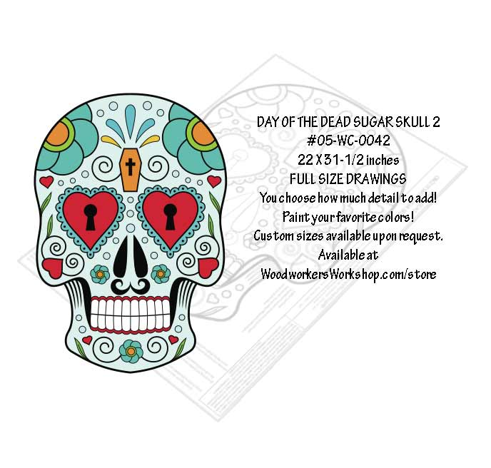Sugar Skull No. 2 Yard Art Woodworking Pattern