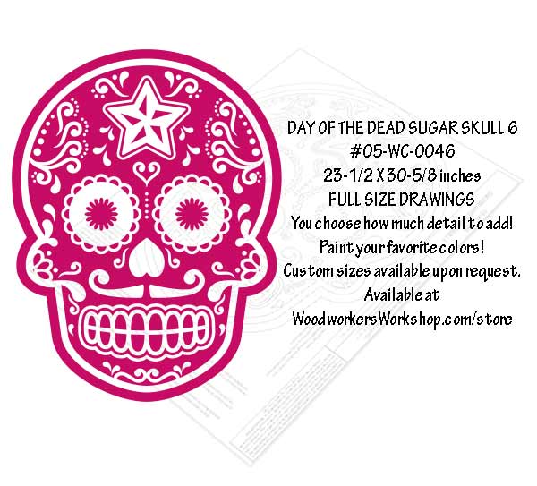Sugar Skull No. 6 Yard Art Woodworking Pattern