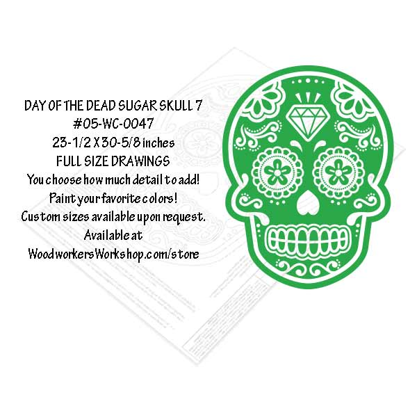 Sugar Skull No. 7 Yard Art Woodworking Pattern