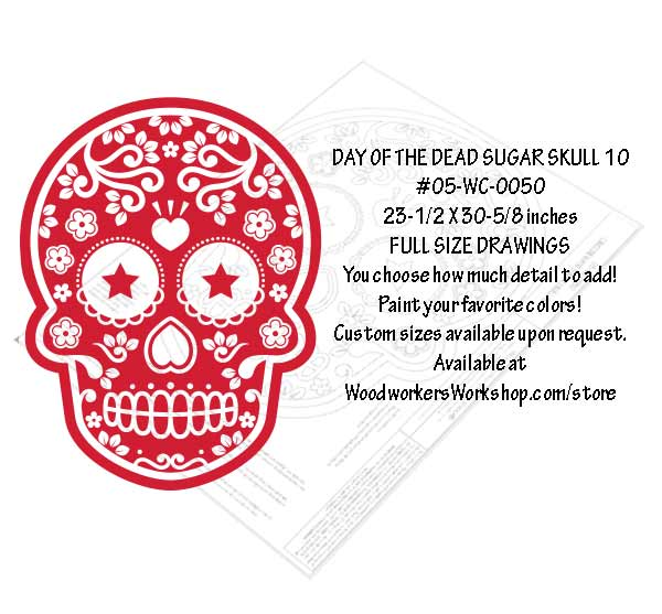 Sugar Skull No. 10 Yard Art Woodworking Pattern
