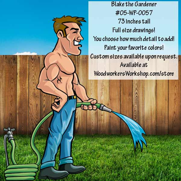 Gardener Blake Yard Art Woodworking Pattern