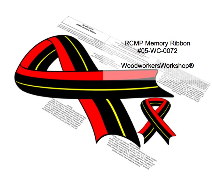 RCMP Memorial Ribbon Yard Art Woodworking Pattern.