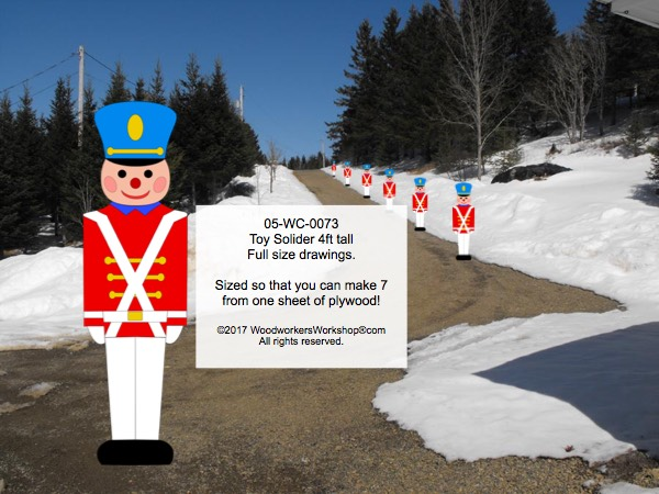 Toy Soldier 48 inch tall Yard Art Woodworking Pattern