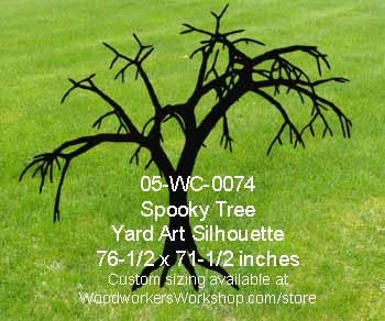 Spooky Tree Yard Art Woodworking Pattern