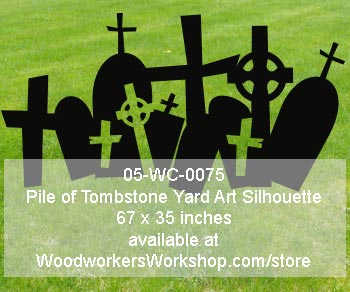 Pile of Tombstone Yard Art Woodworking Pattern