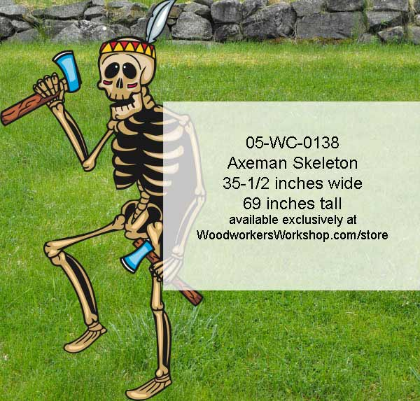 Axeman Skeleton Yard Art Woodworking Pattern