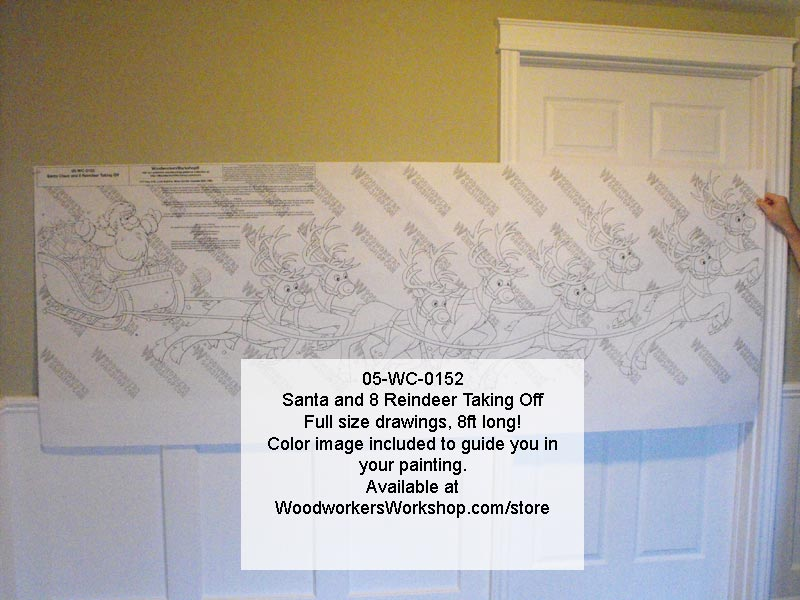 05-WC-0152 - Santa and Eight Reindeer Yard Art Woodworking Pattern.