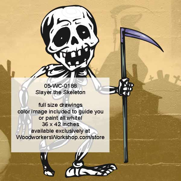 Slayer the Skeleton Halloween Woodworking Pattern