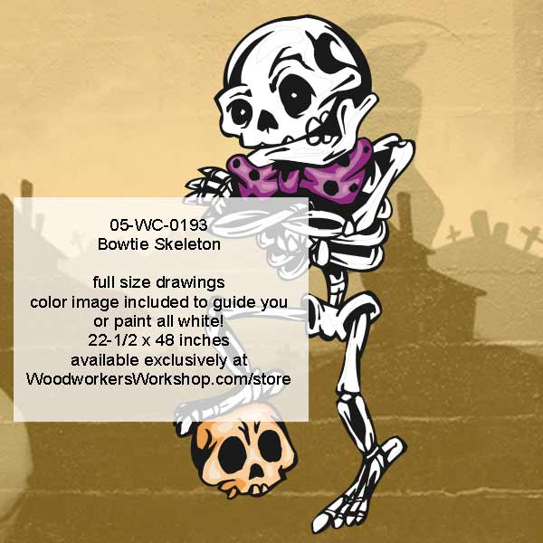 05-WC-0193 - Bowtie Skeleton Halloween Woodworking Pattern