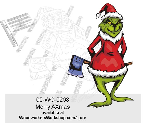 Merry AXmas Yard Art Woodworking Pattern.