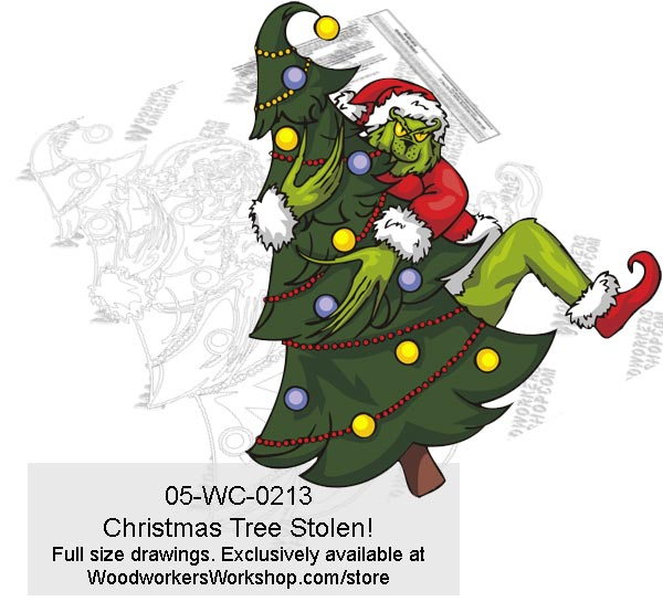 Grinch Christmas Tree Stolen! Yard Art Woodworking Pattern
