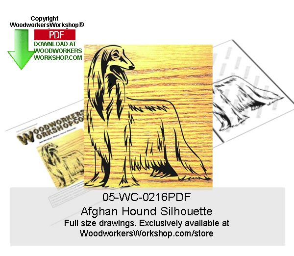 Afghan Hound Silhouette Scroll Art Woodworking Pattern