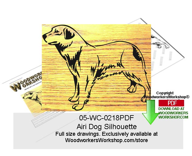 05-WC-0218 - Airi Dog Silhouette Woodworking Pattern