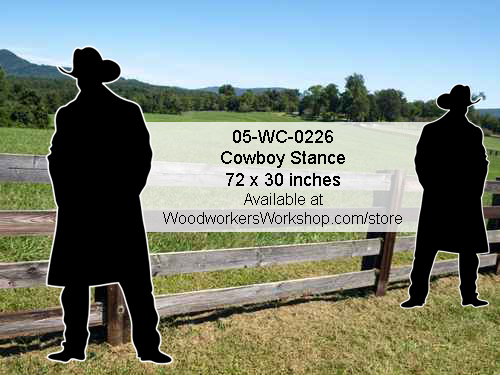 Cowboy Stance Yard Art Woodworking Pattern