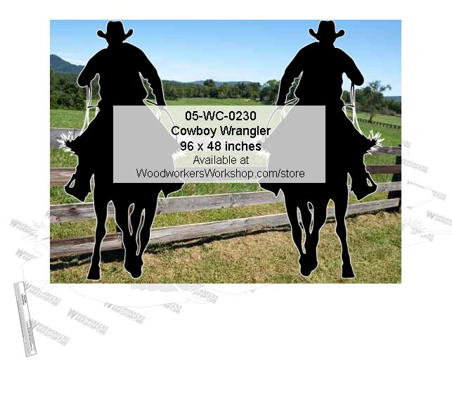 Cowboy Wrangler Yard Art Woodworking Pattern