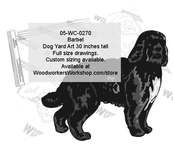 Barbet Dog Yard Art Woodworking Pattern