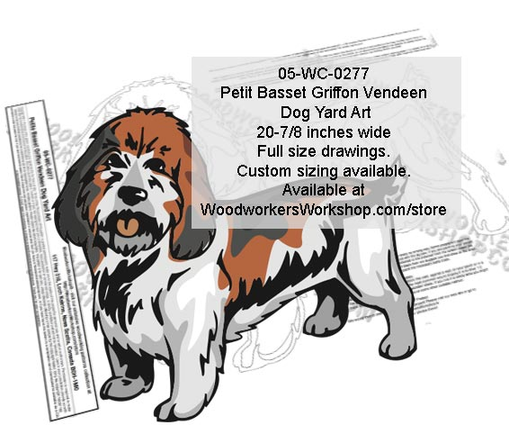 Petit Basset Griffon Vendeen Dog Yard Art Woodworking Pattern