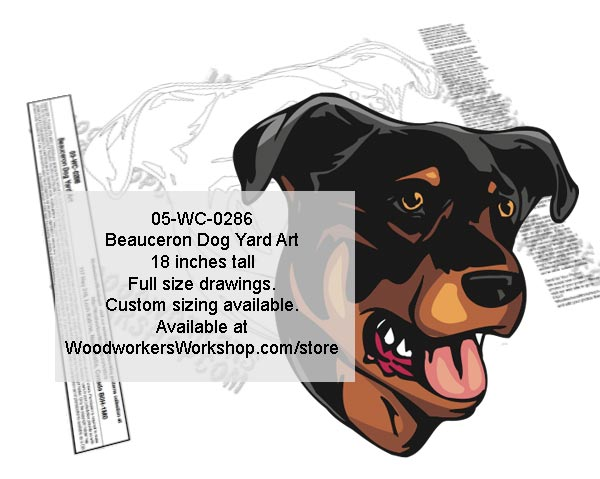 Beauceron Dog Yard Art Woodworking Pattern
