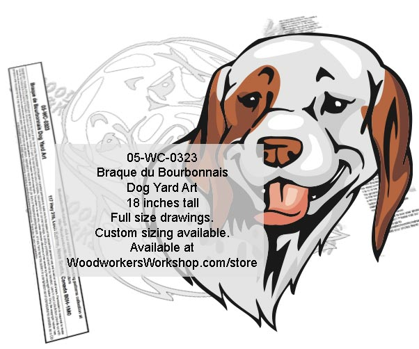 Braque du Bourbonnais Yard Art Woodworking Pattern