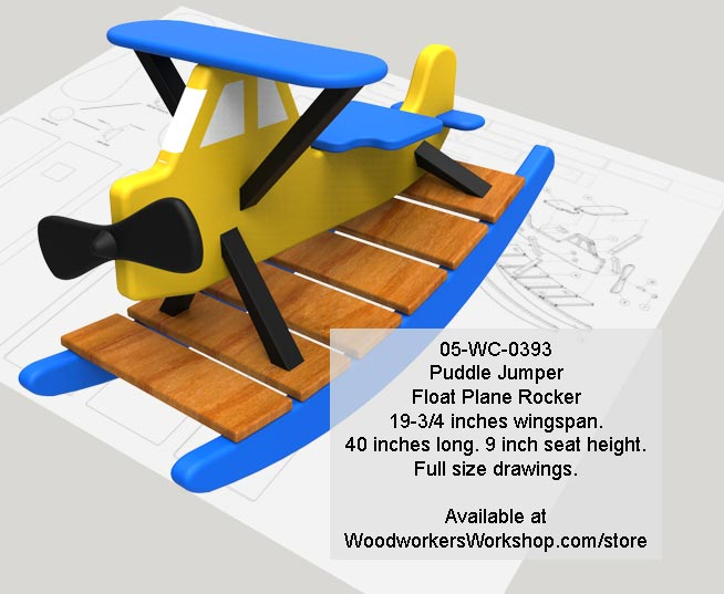 Puddle Jumper Float Plane Rocker Woodworking Pattern