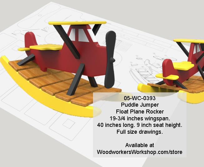 05-WC-0393 - Puddle Jumper Float Plane Rocker Woodworking Pattern