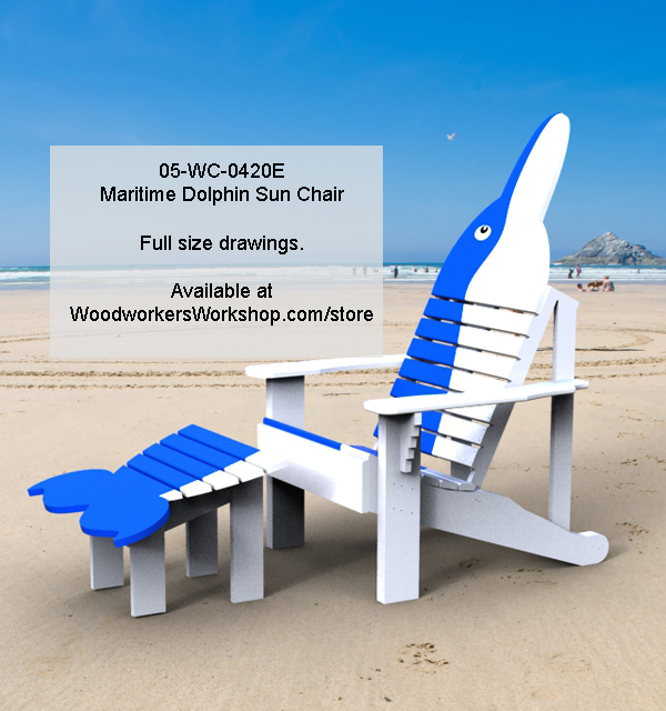 Maritime Dolphin Sun Chair Woodworking Pattern woodworking plan