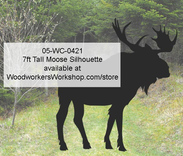 7ft Tall Moose Silhouette Yard Art Woodworking Pattern