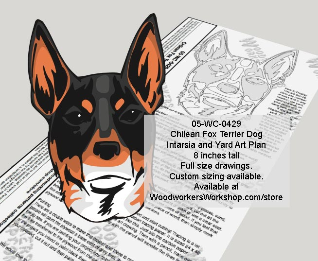 Chilean Fox Terrier Dog Woodworking Pattern