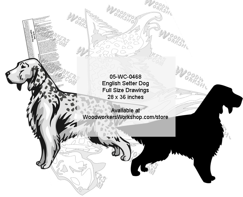 English Setter Dog Yard Art Woodworking Pattern. woodworking plan