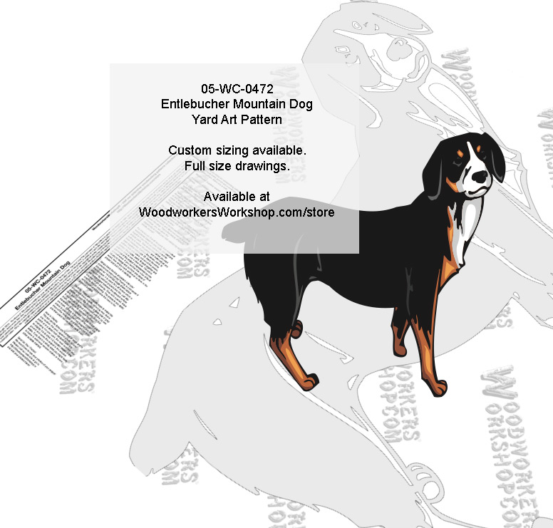 Entlebucher Mountain Dog Intarsia or Yard Art WoodPattern