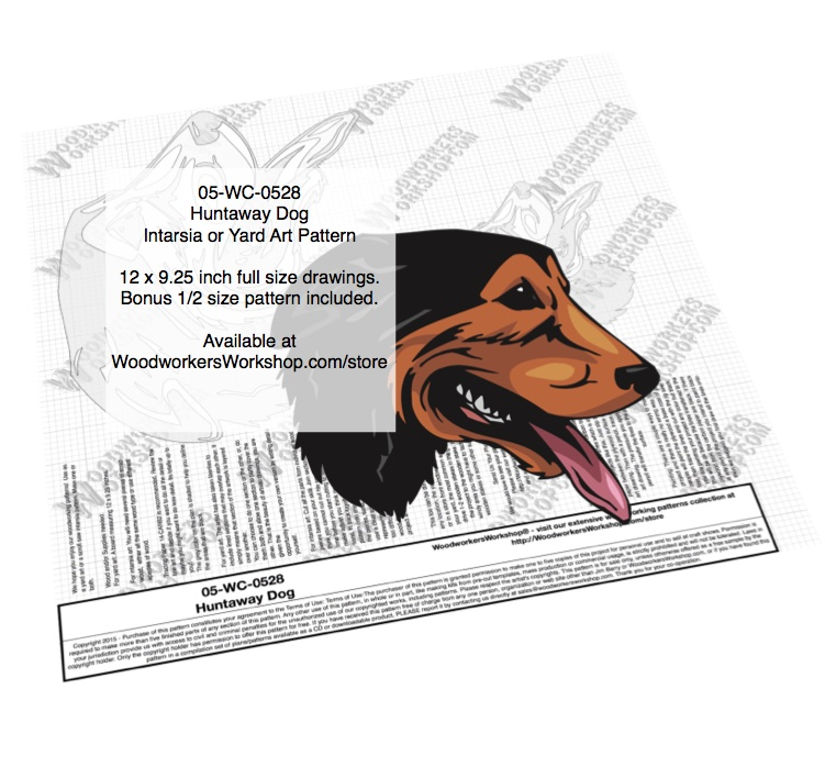 Huntaway Dog Intarsia or Yard Art Woodworking Pattern