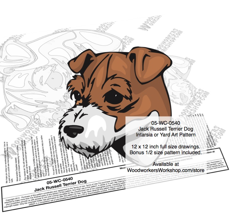 Jack Russell Terrier Dog Intarsia or Yard Art Woodworking Plan. woodworking plan