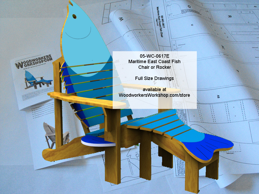 Maritime East Coast Fish Chair and Rocker Full Size Woodworking Plan.