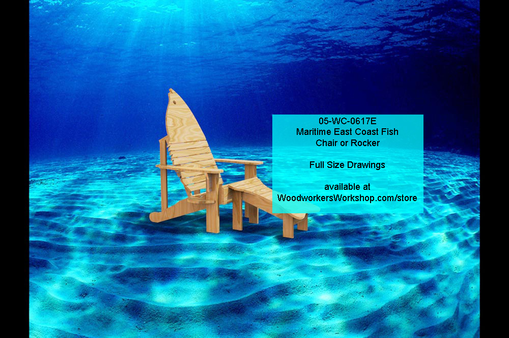 05-WC-0617E - Maritime East Coast Fish Chair and Rocker Full Size Woodworking Plan.