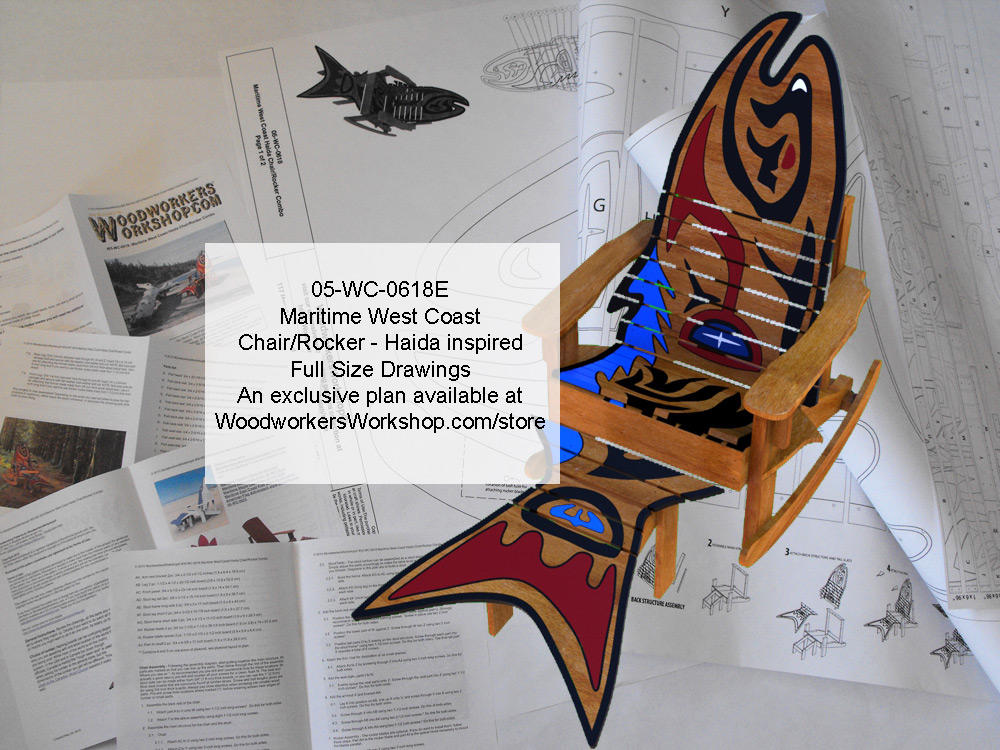 Maritime West Coast Haida Chair/Rocker Combo Woodworking Plan. woodworking plan
